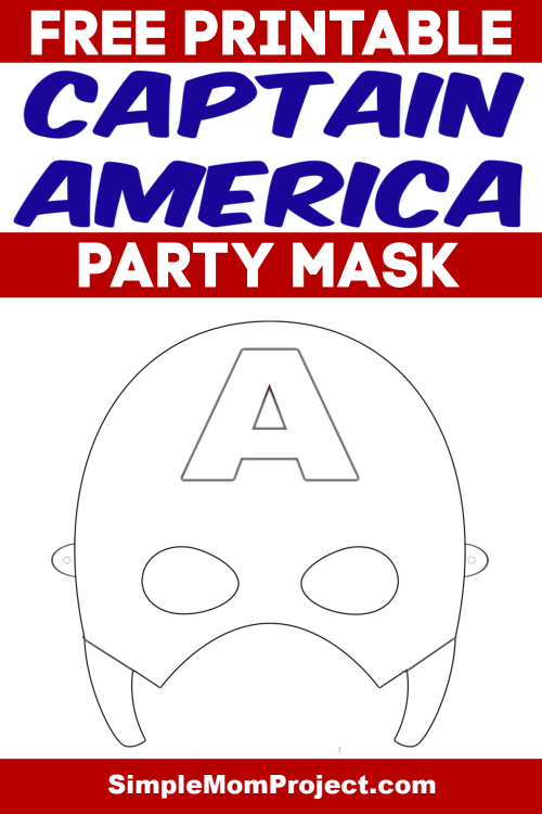 Free Printable Captain America Party Mask Coloring Sheet