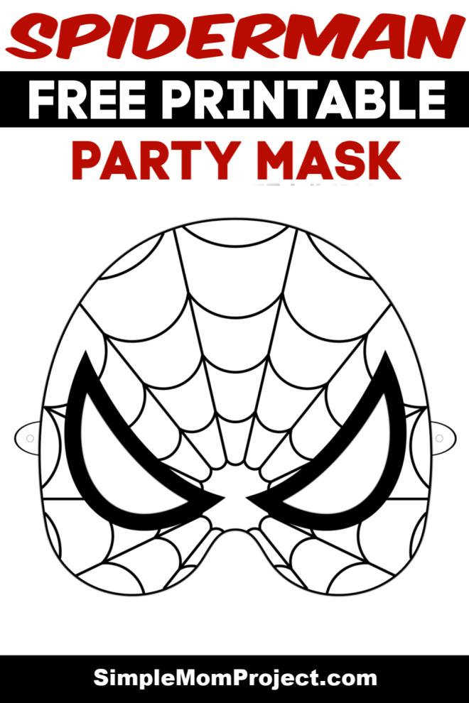 FREE Printable Spiderman Coloring Sheet Mask