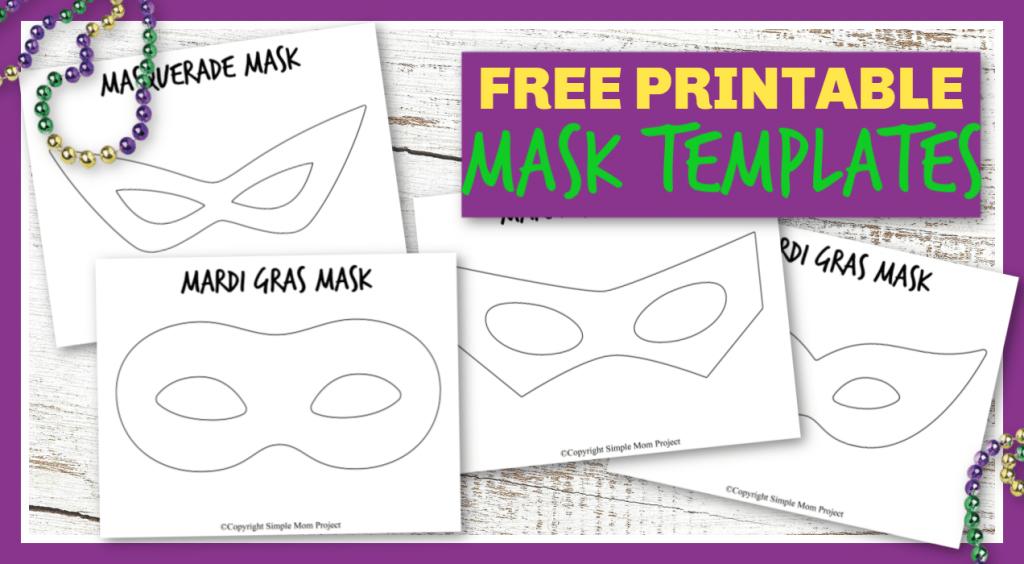 Free Printable Diy Mask Templates For Mardi Gras And