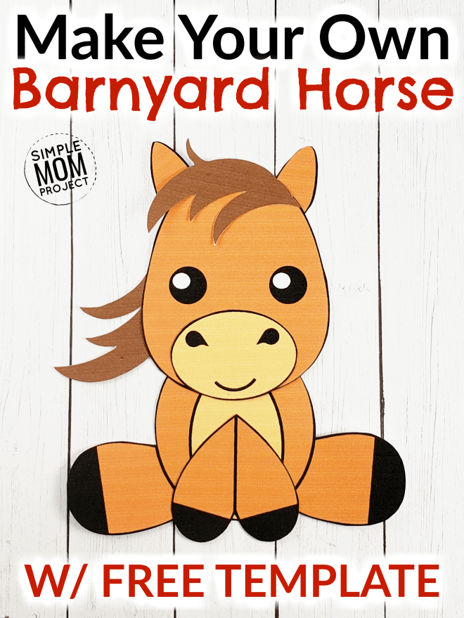 Horse Craft for Kids, preschoolers and toddlers Pin 1