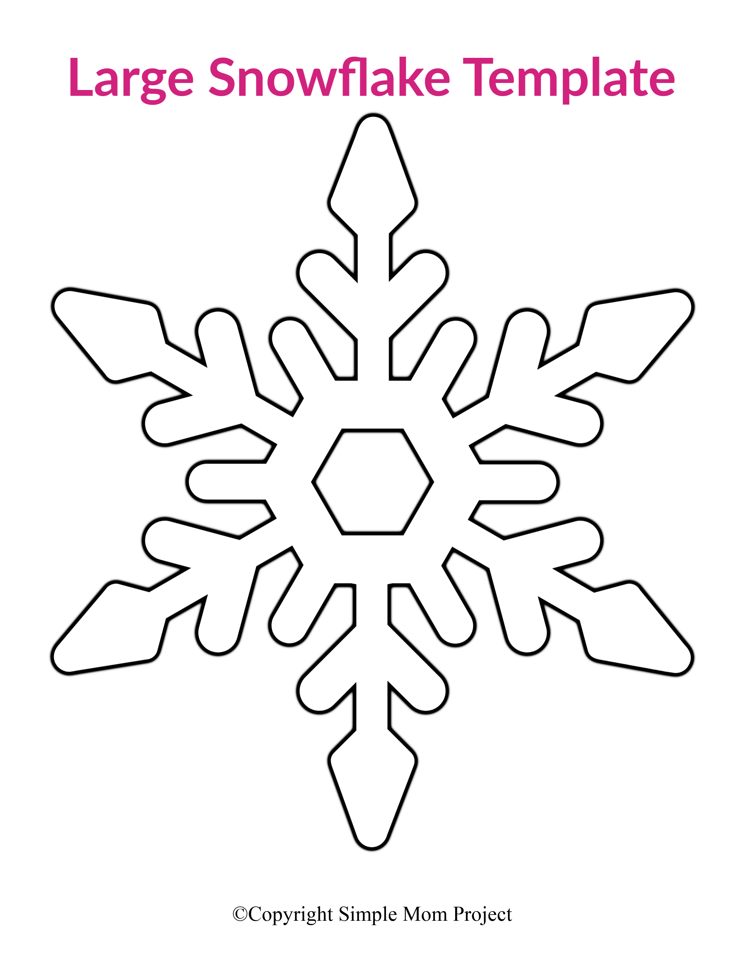 8 Free Printable Large Snowflake Templates