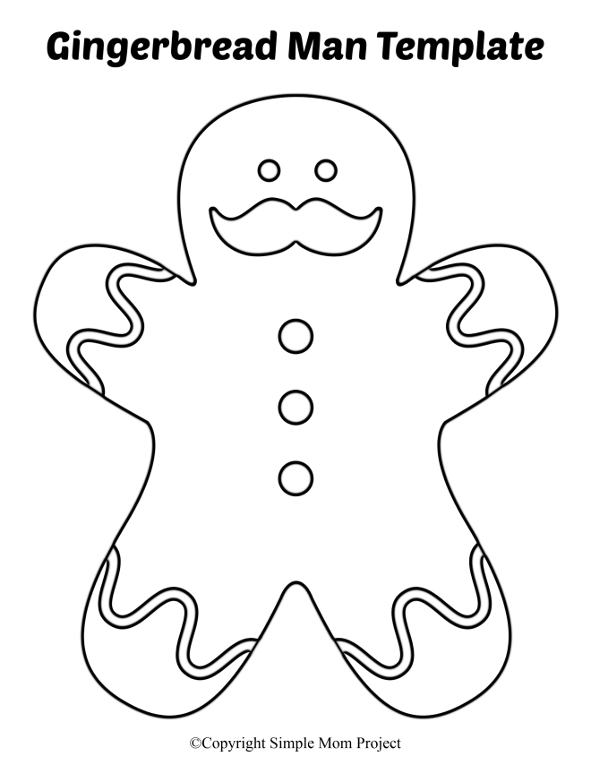 Free Printable Large Gingerbread Man Template