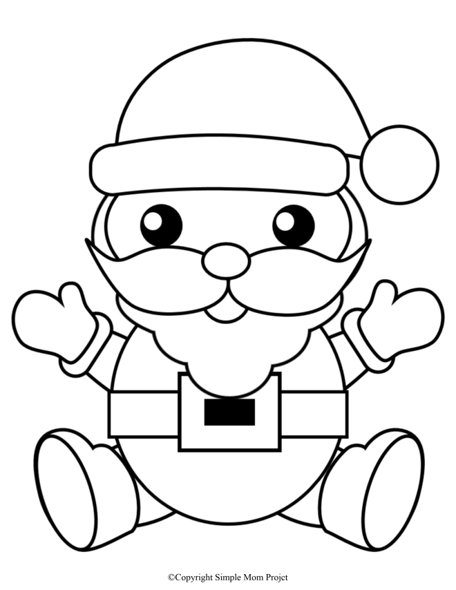 Free Printable Santa Coloring Page for Kids and Adults