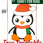 Looking for a fun and easy Christmas penguin craft your preschoolers and kindergarten kids to make in the classroom? This penguin craft makes a perfect greeting card or diy Christmas ornament! Use the free printable penguin template, follow the simple step-by-step instructions and have a Merry crafting time! #WinterCrafts #ArcticCrafts #Christmas #ChristmasCrafts #Penguin #PenguinCrafts #SimpleMomProject