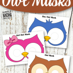 Click now to print any of our free printable owl mask templates for both girls and boys! Use the black and white ones for an owl coloring page activity or simply print and play in a masquerade party now! Perfect for a quick Halloween mask or animal unit study. #owlmask #owltemplates #owlcrafts #masks #printablecrafts #SimpleMomProject