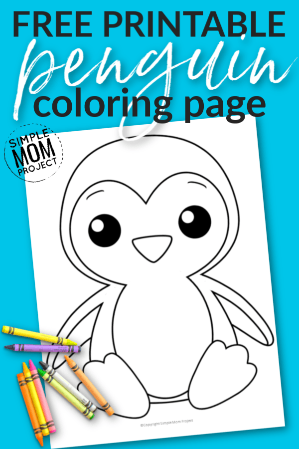 Free Printable Penguin Coloring Page for Kids