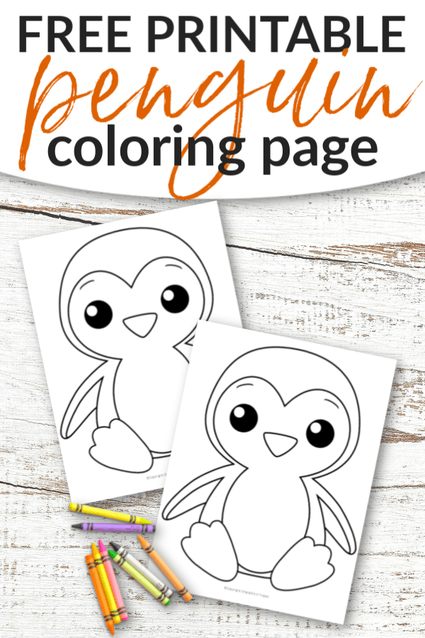 Free Printable Penguin Coloring Page Simple Mom Project