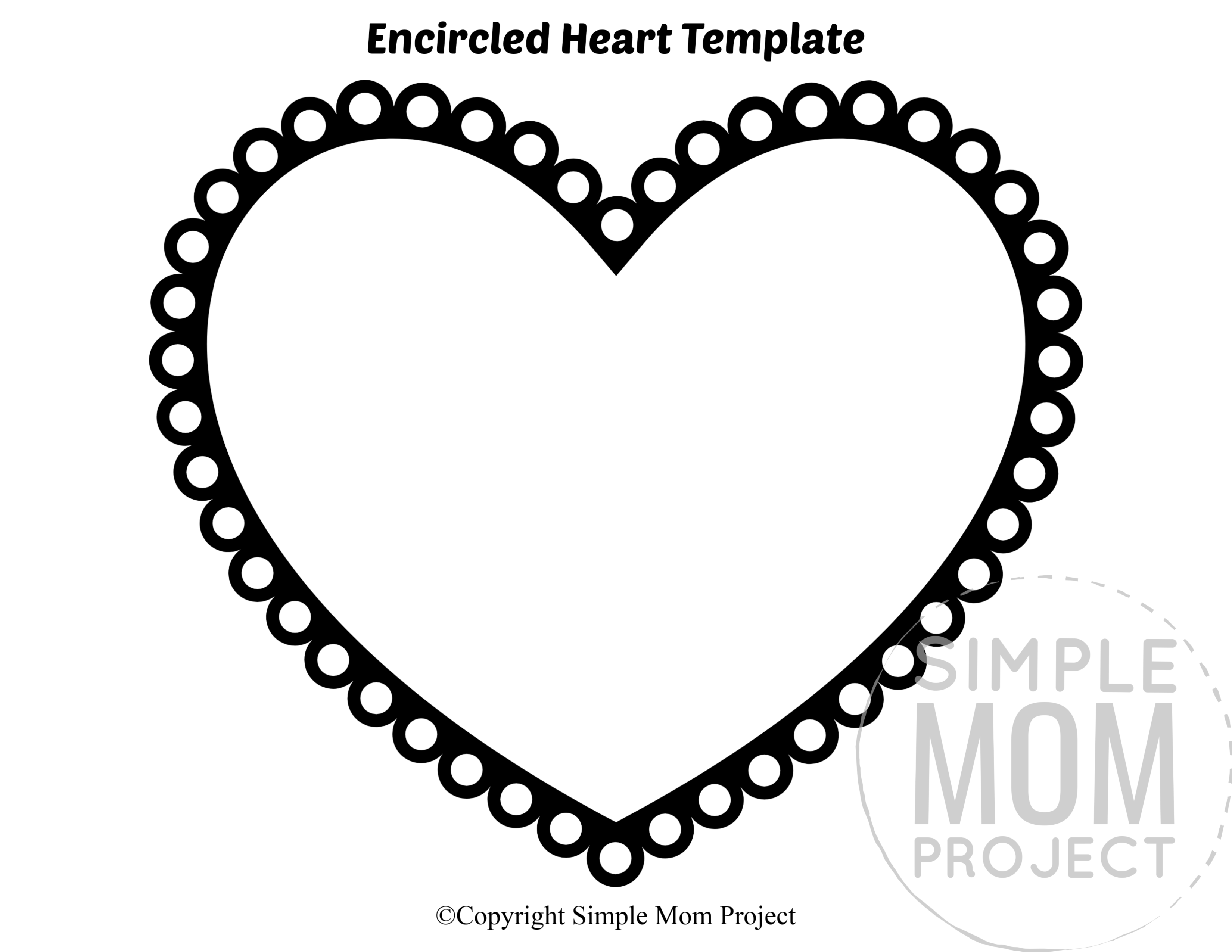 Free Printable Large Heart Shape Templates Simple Mom Project