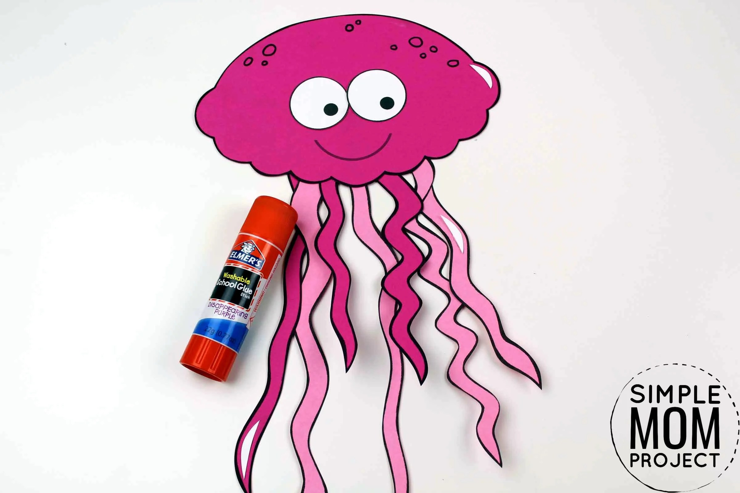 Easy Diy Jellyfish Craft With Free Jellyfish Template