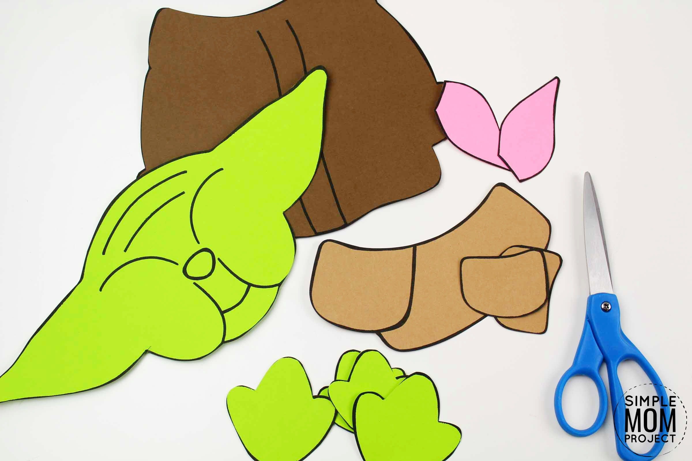 Build A Yoda Craft For Kids With A Free Printable Template