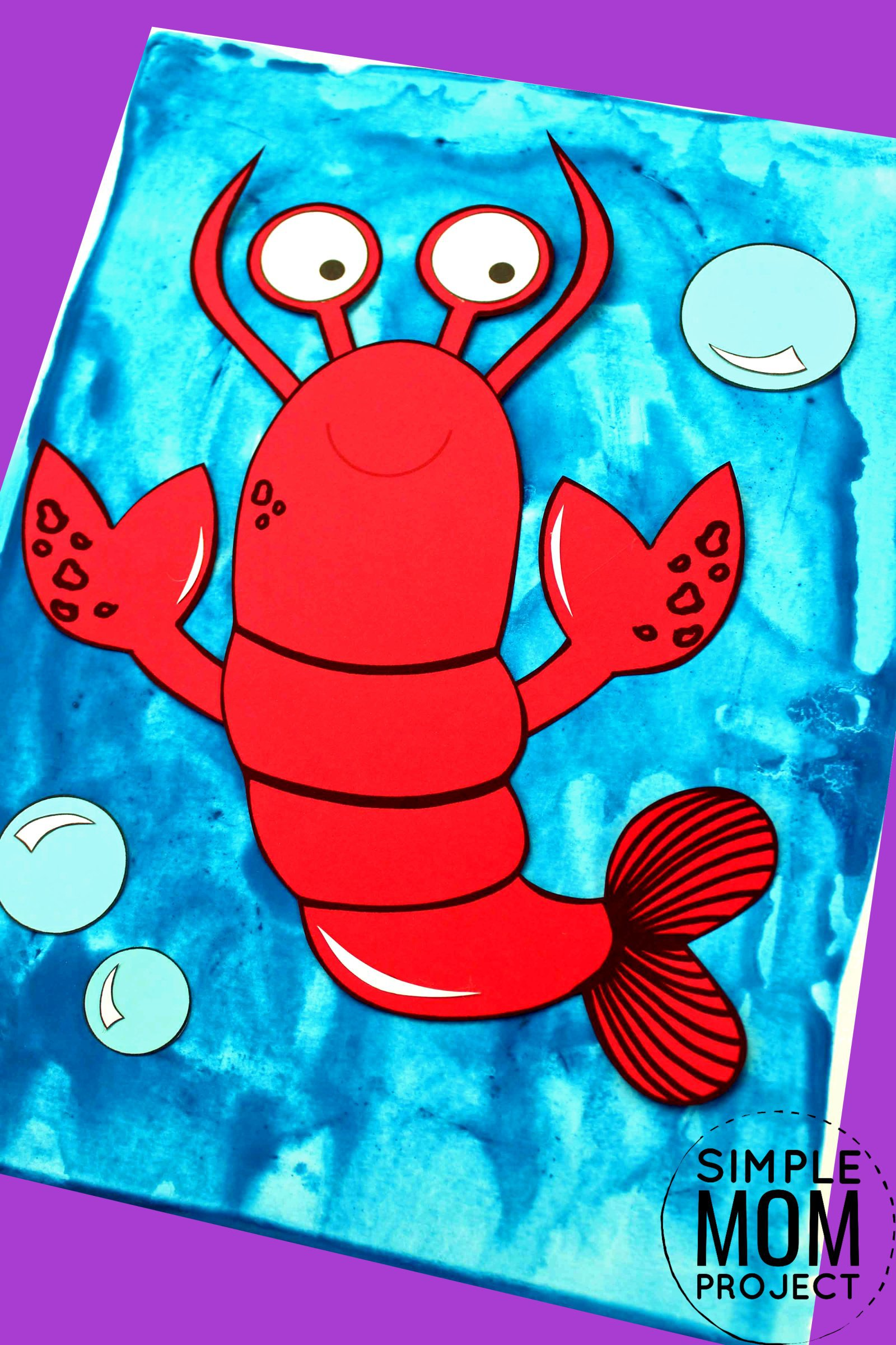 Easy Lobster Craft For Kids With Free Lobster Template