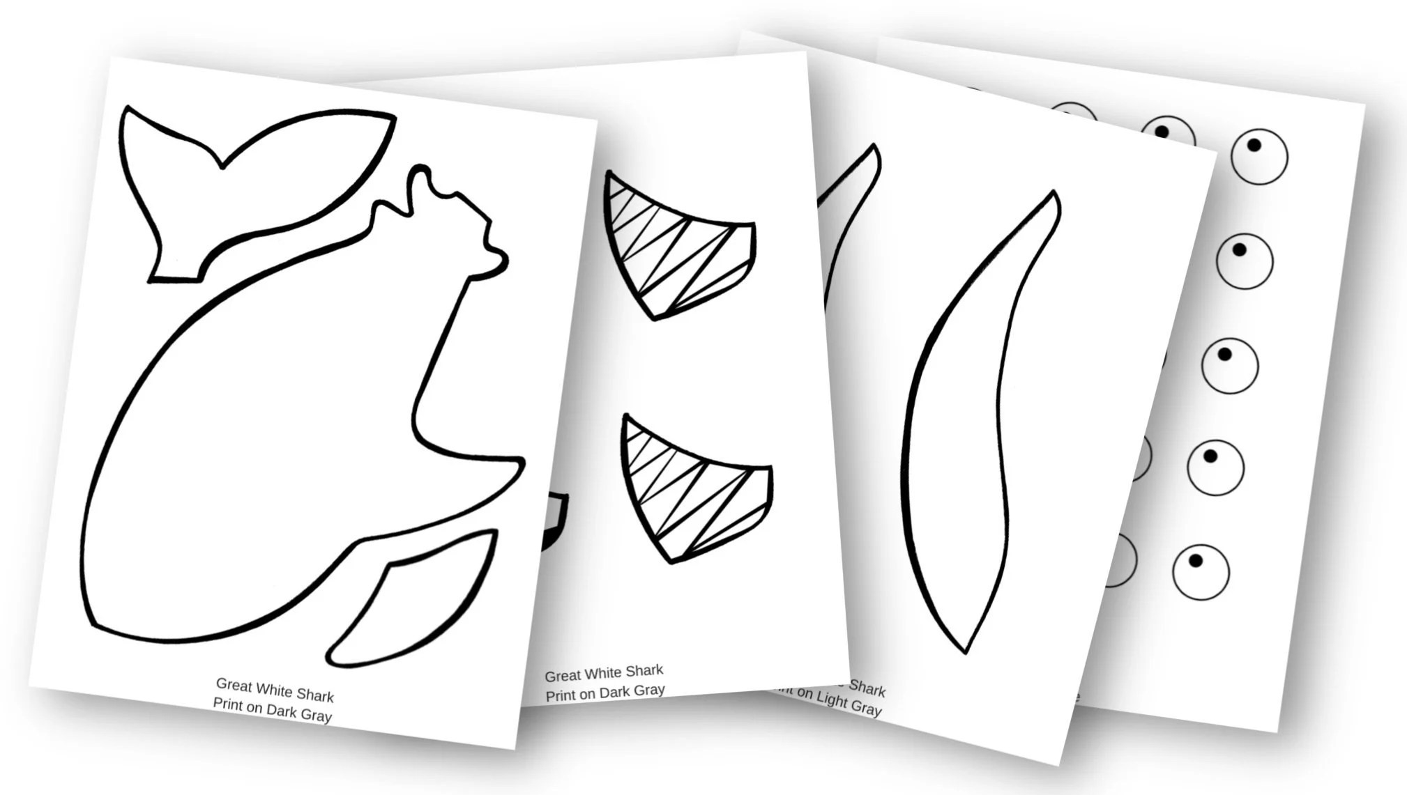 Adorable Shark Craft For Kids With Free Template
