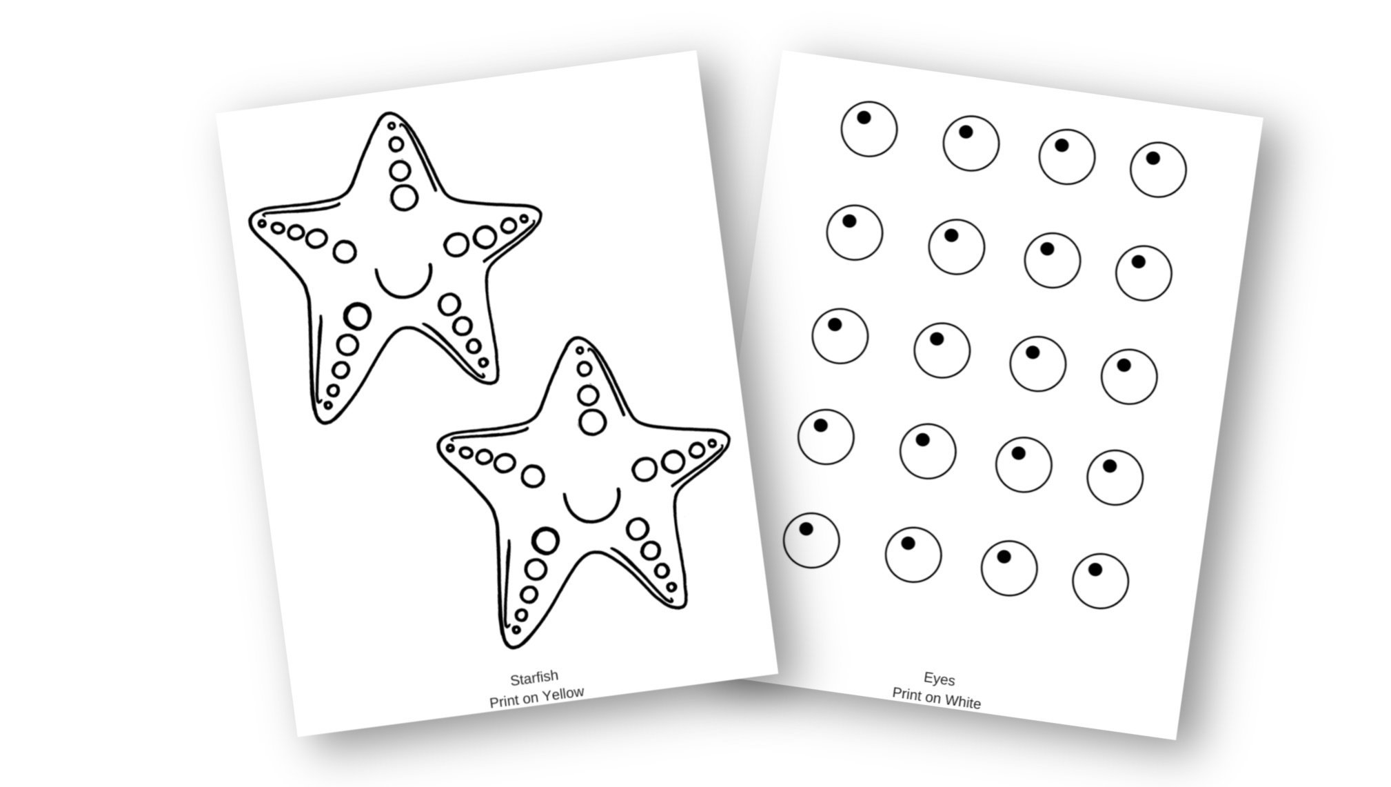 Easy Diy Starfish Craft For Kids With Free Template
