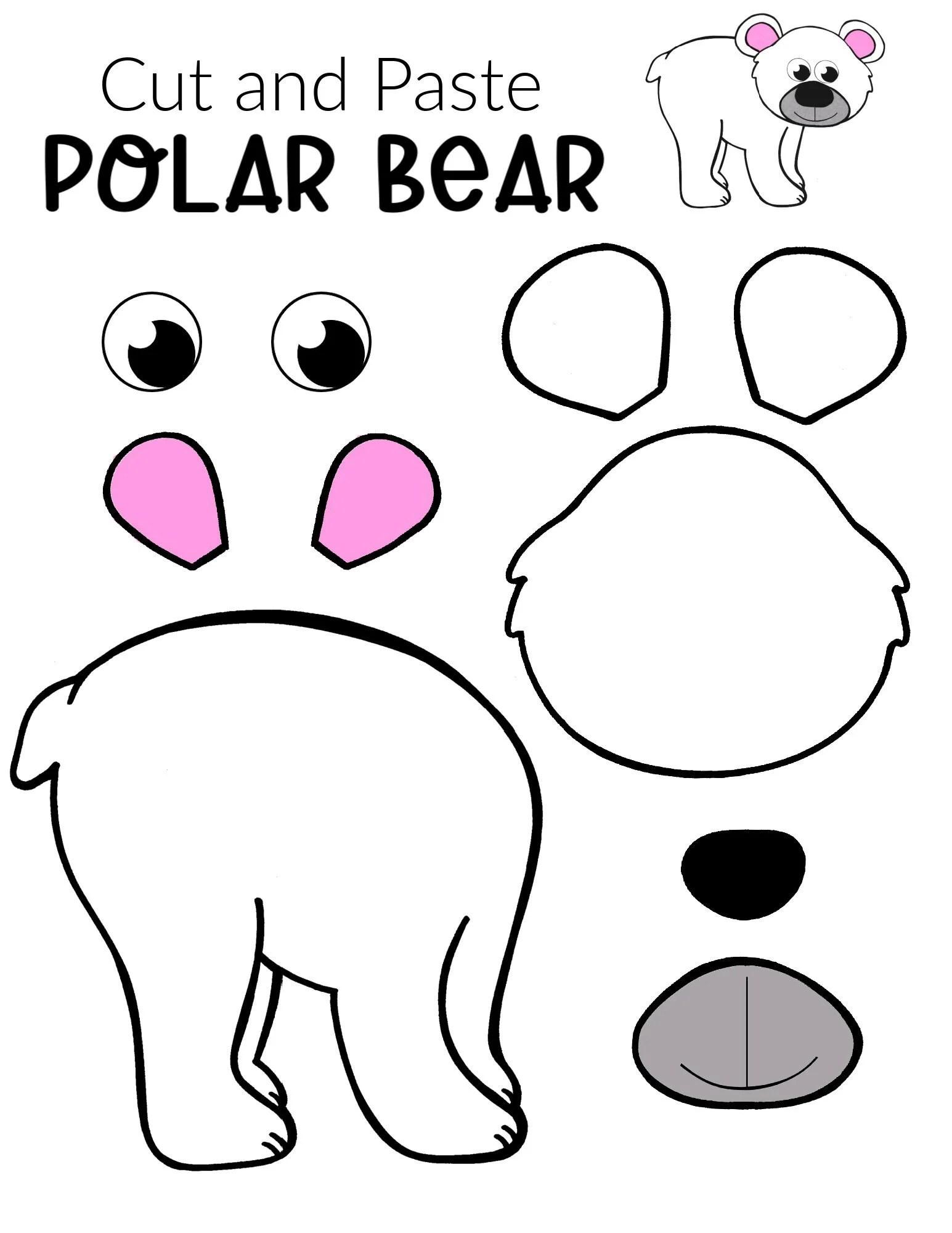 Printable Cut And Paste Arctic Animal Craft Bundle