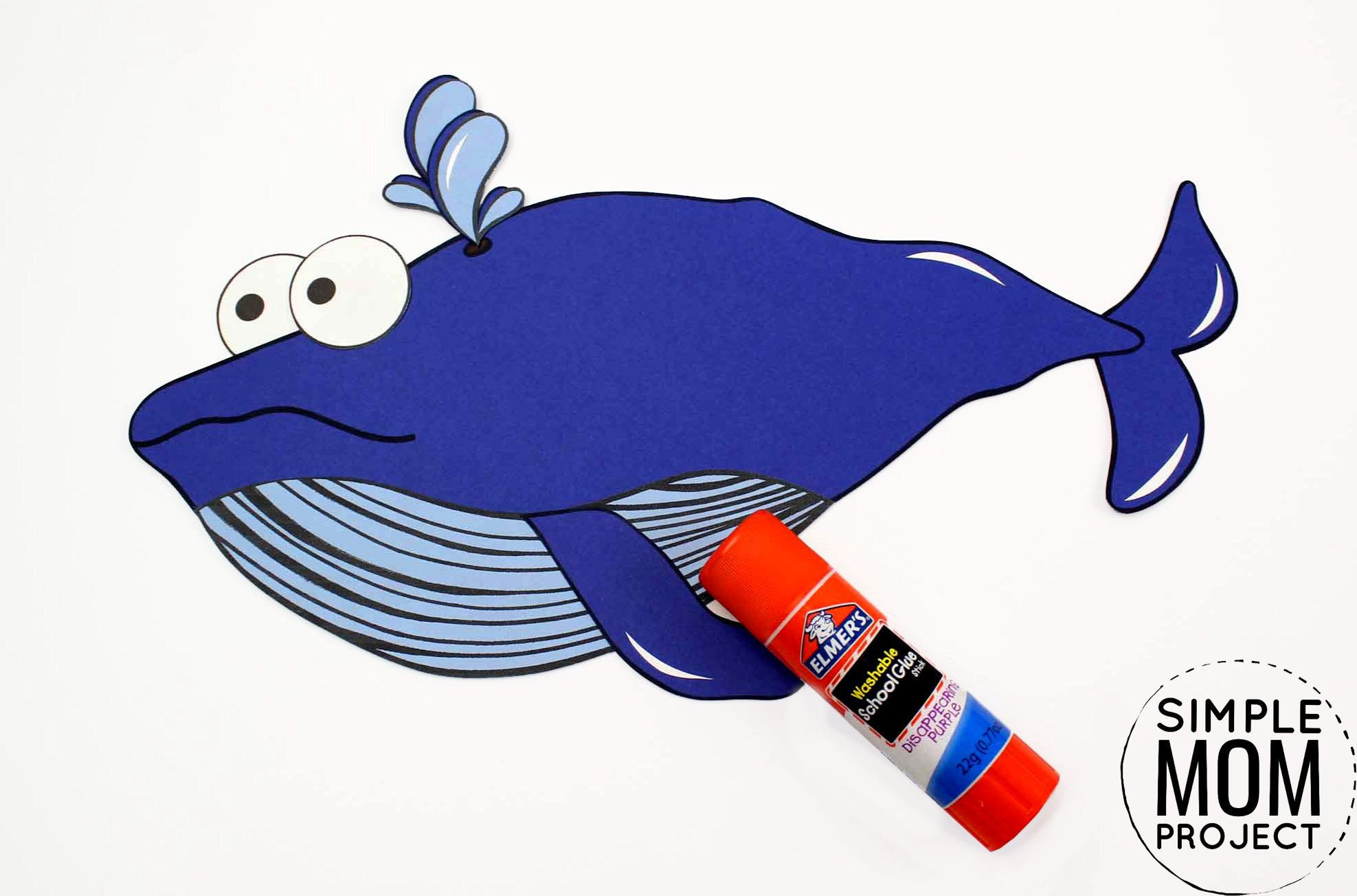 Easy Diy Blue Whale Craft For Kids With Free Whale