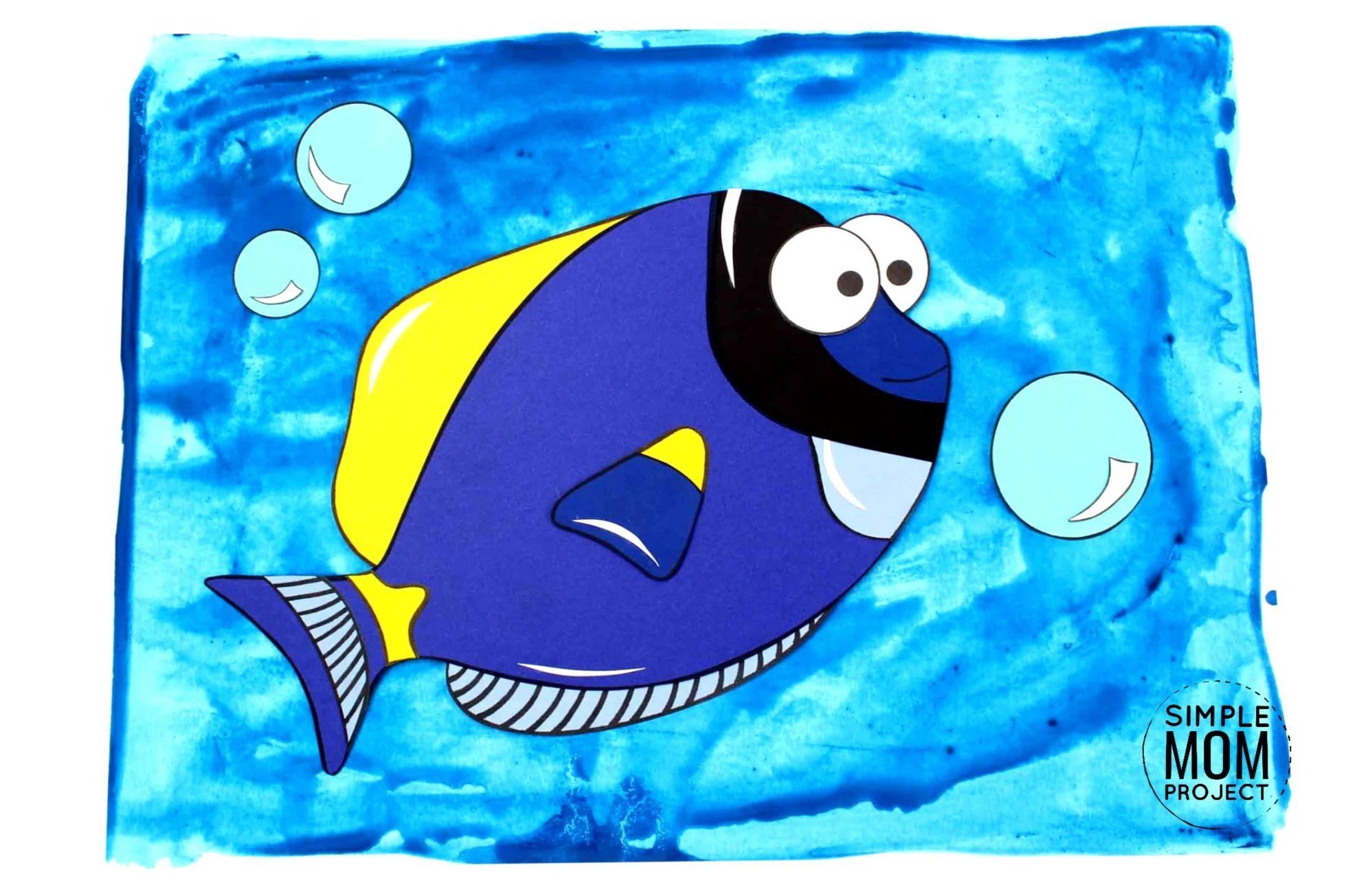 Cut And Paste Blue Tang Dory Craft For Kids With Free