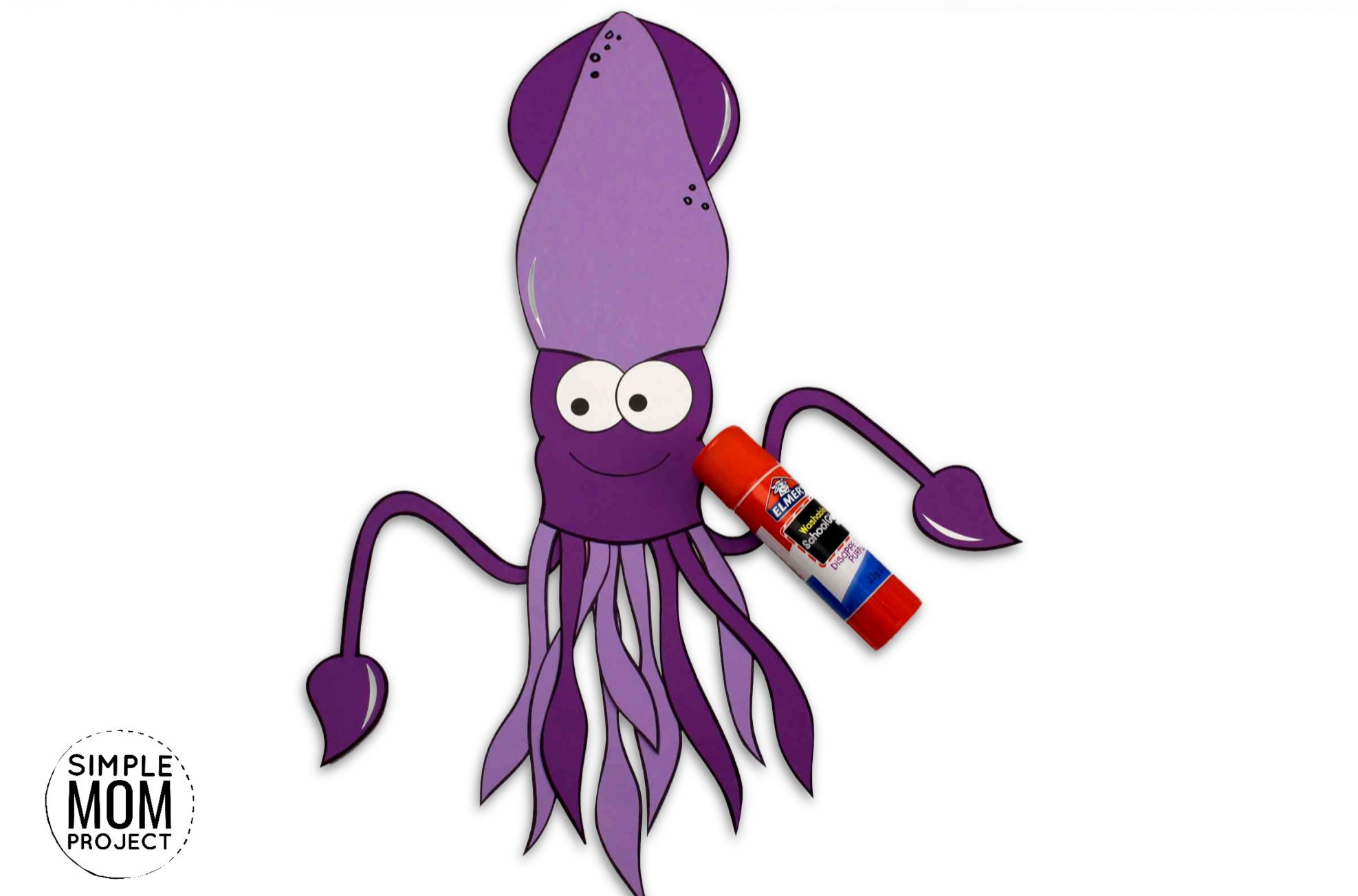 Easy Diy Squid Craft For Kids With Free Squid Template