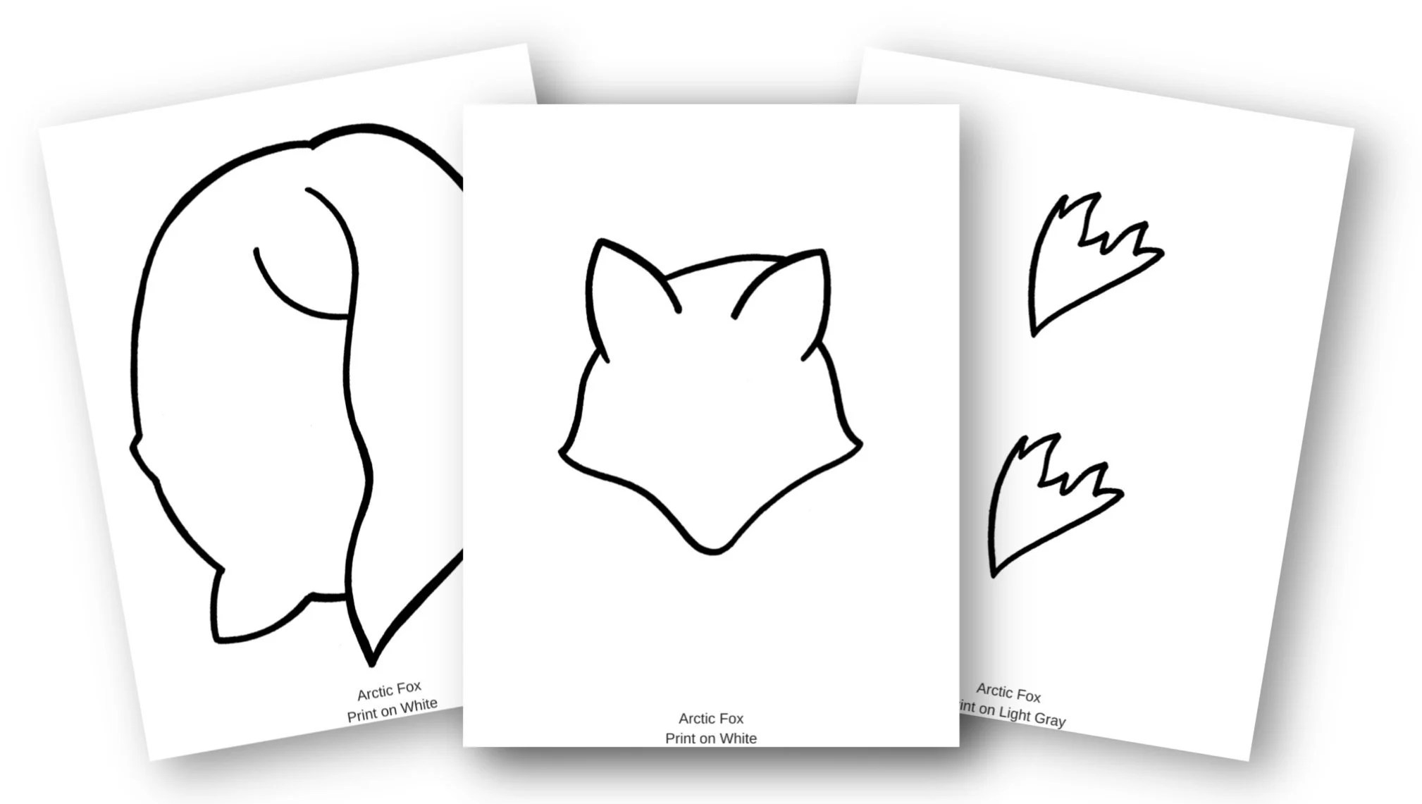 Easy Cut And Paste Arctic Fox Craft For Kids