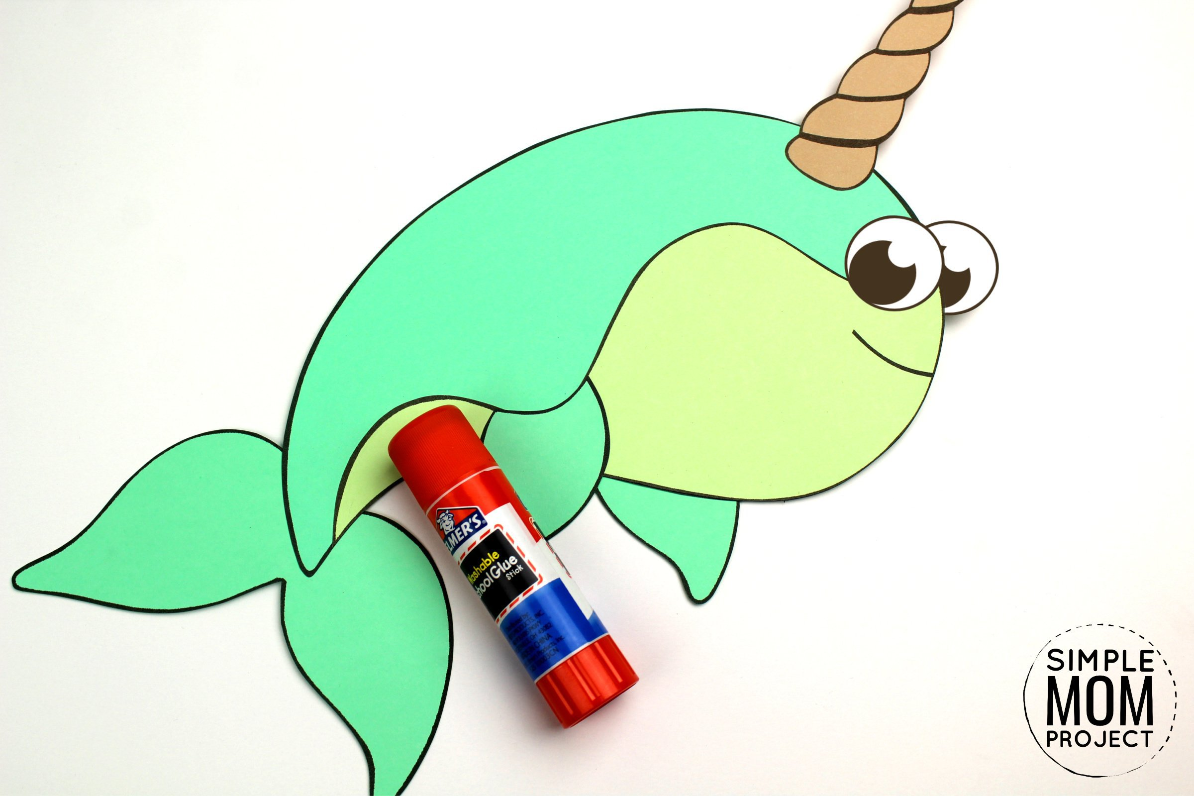 Free Printable Baby Narwhal Craft For Kids