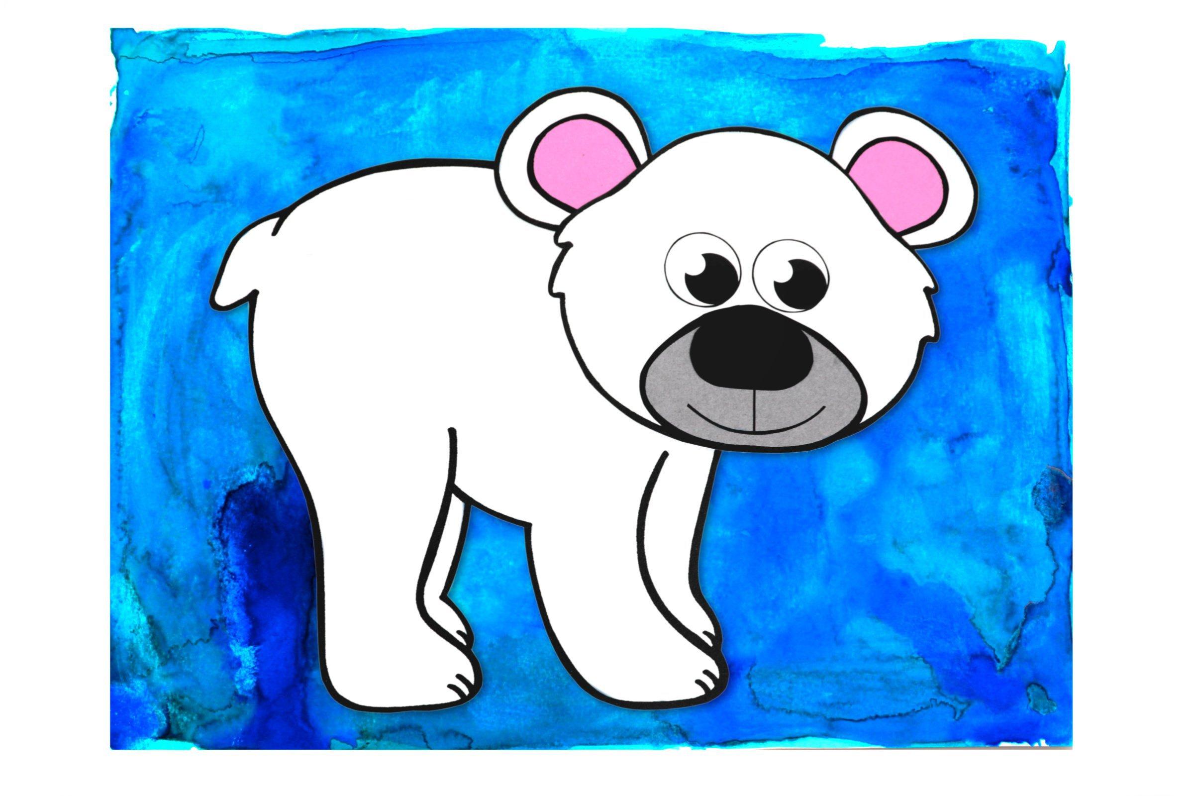 Easy Polar Bear Arctic Animal Craft For Kids