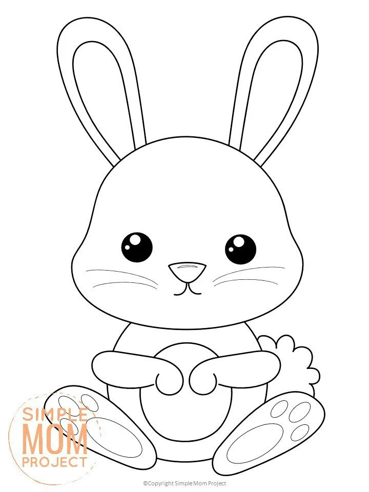Free Printable Forest Rabbit Coloring Page Simple Mom Project