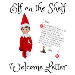graphic about Printable Elf on the Shelf Goodbye Letter identified as Absolutely free Elf Upon The Shelf Welcome Letter Printable - Easy Mother
