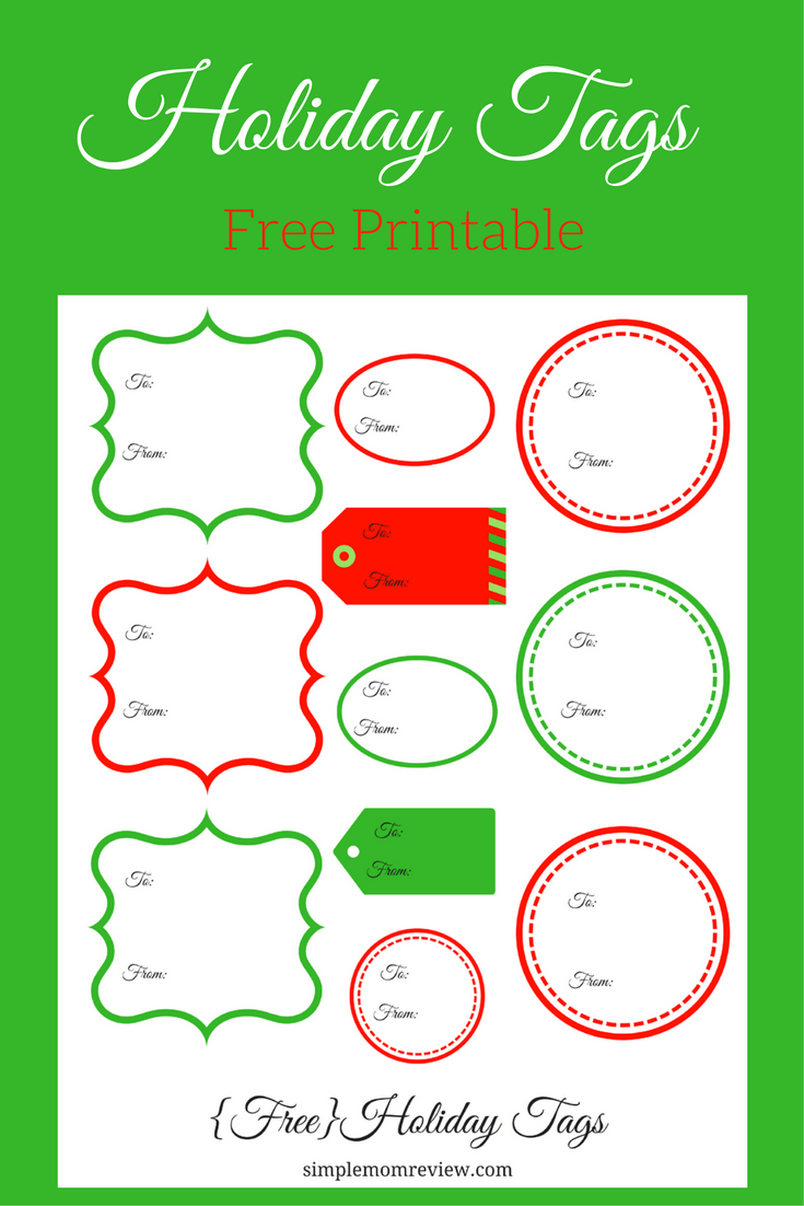 photo relating to Free Printable Holiday Tags identify Holiday vacation Tags: Totally free Printable - Easy Mother Study