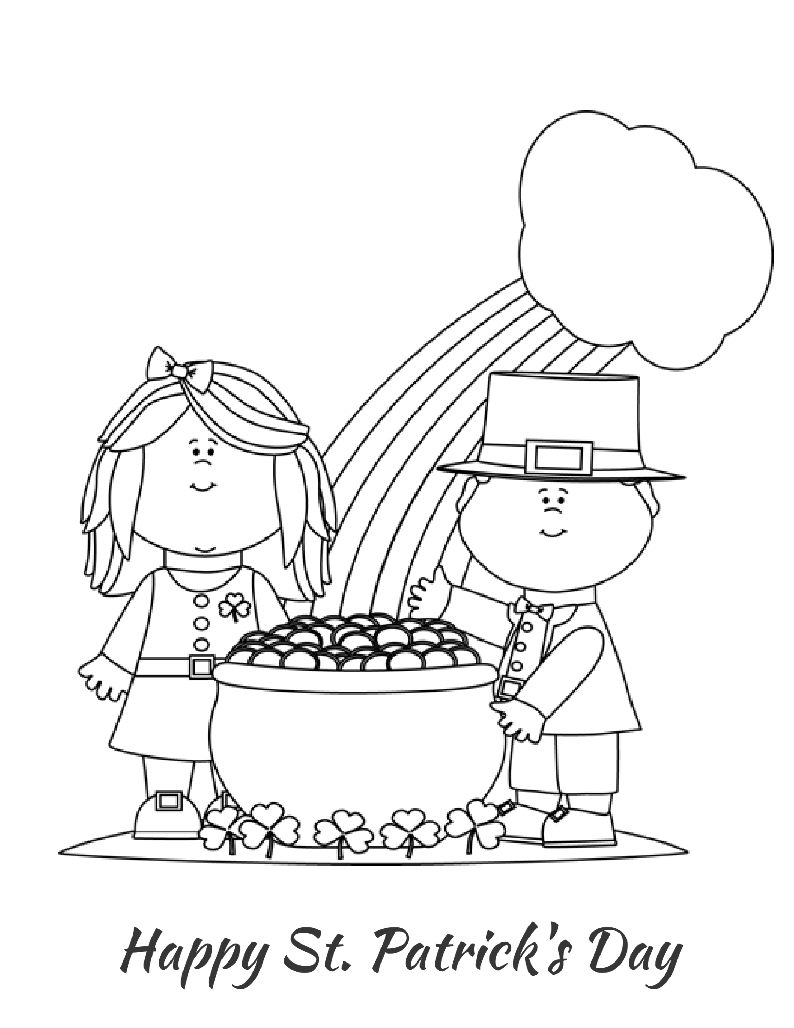St Patrick S Day Coloring Page