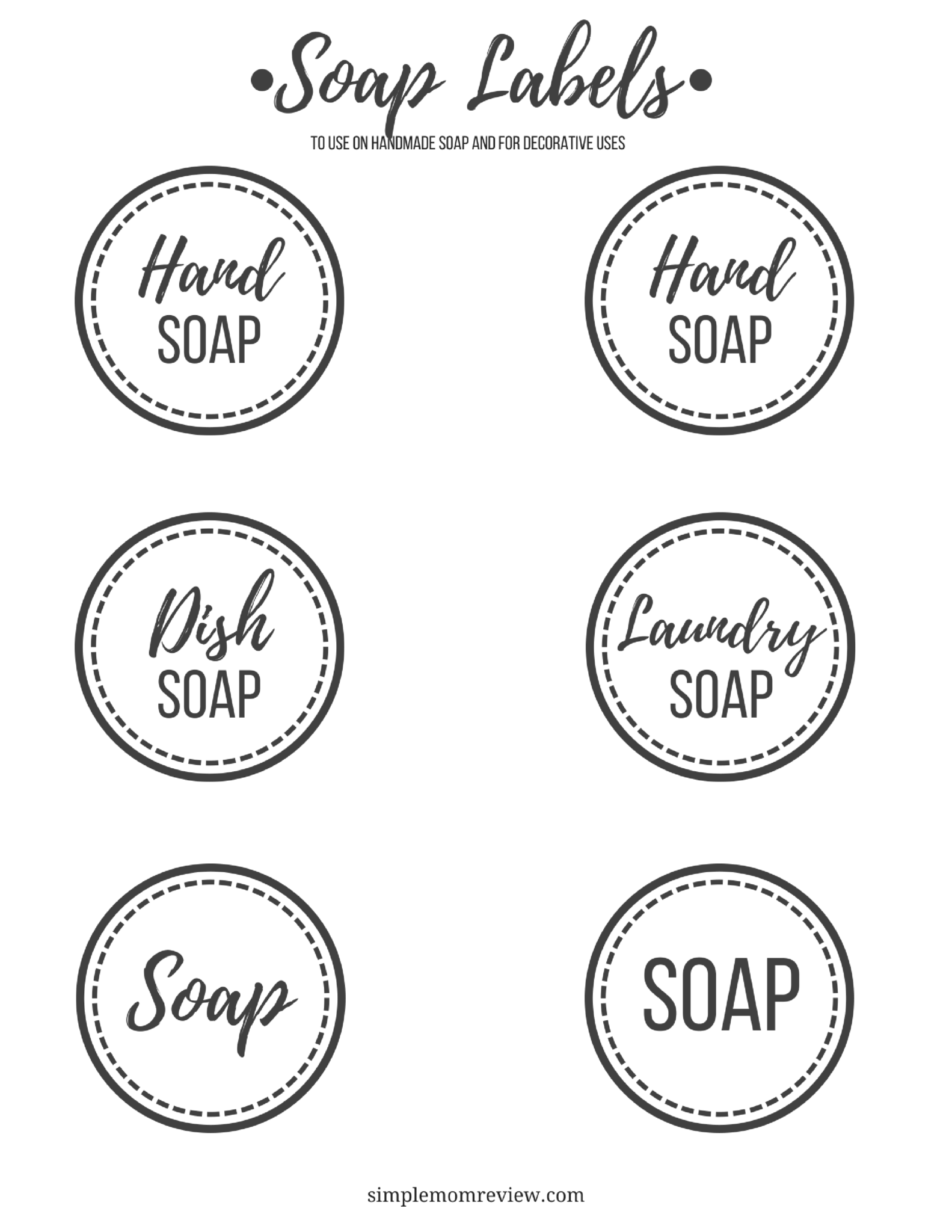 Diy Foaming Hand Soap With Free Printable Labels