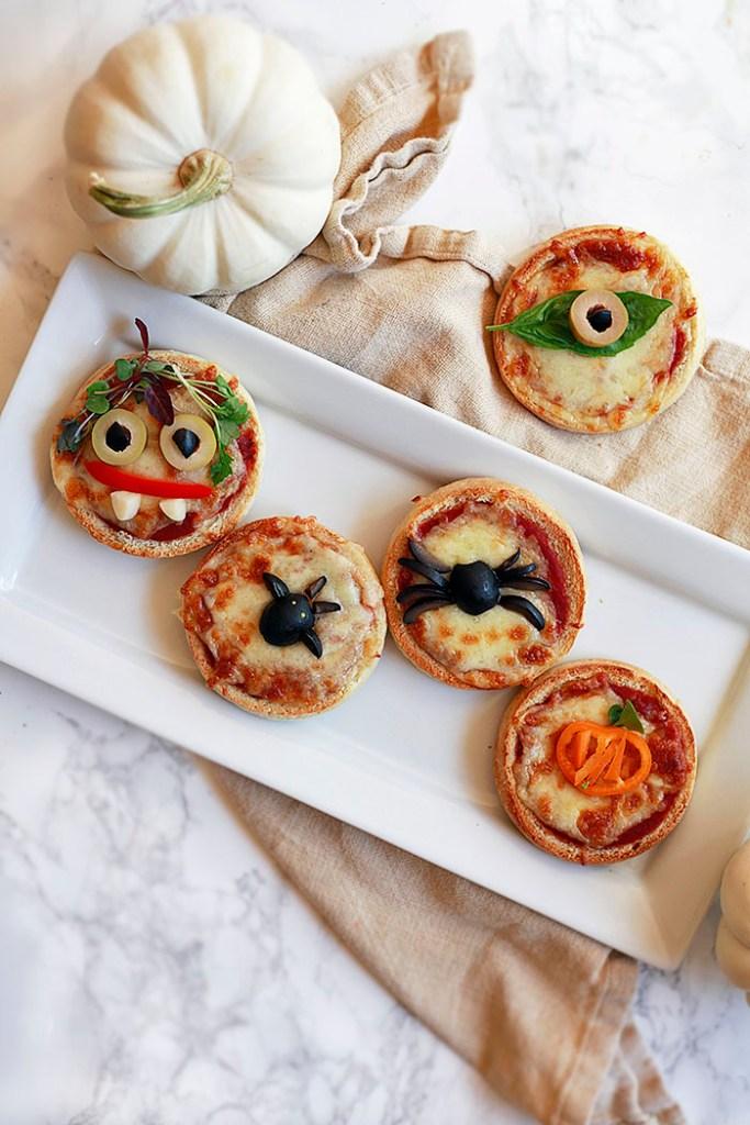 Mini Halloween Pizzas