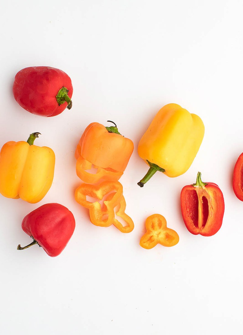 eat red and yellow peppers for glowing skin