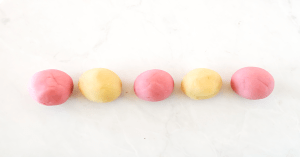 Natural Play Dough Pink and Yellow Balls