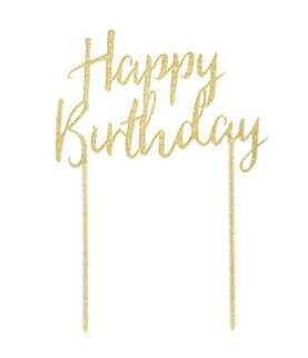 Talking Tables Happy Birthday Gold Cake Topper