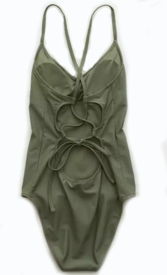Aerie Strappy Back One Piece Swimsuit Back