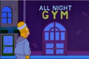 homer goes to the gym