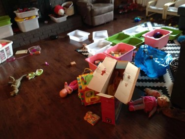 before purging kids toys, simple on purpose