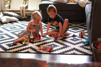 kids playing lego without parents
