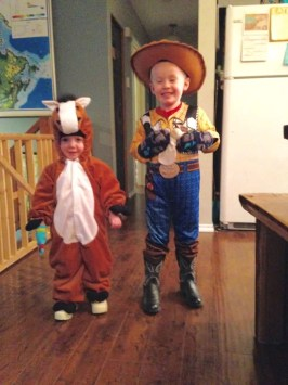 cowboy and horse costume