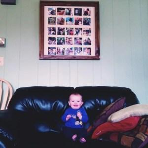 DIY photo display for grandma