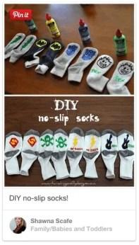 non slip toddler sock DIY