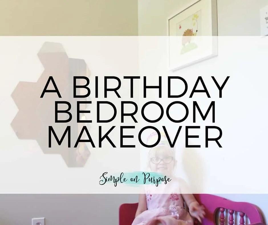birthday bedroom