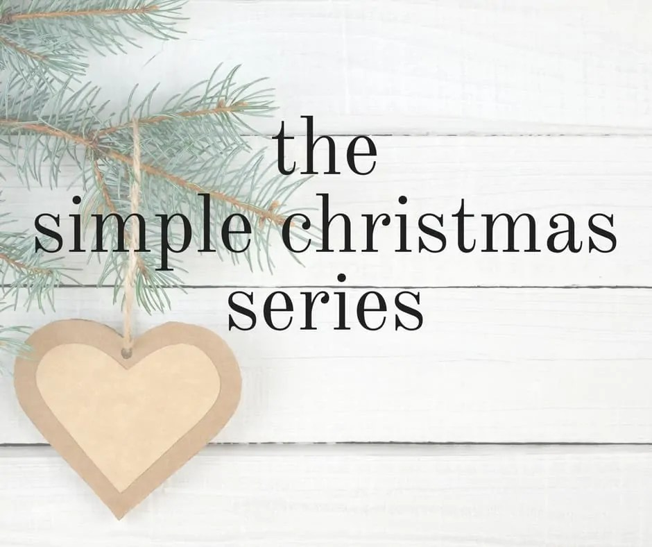 the simple christmas series