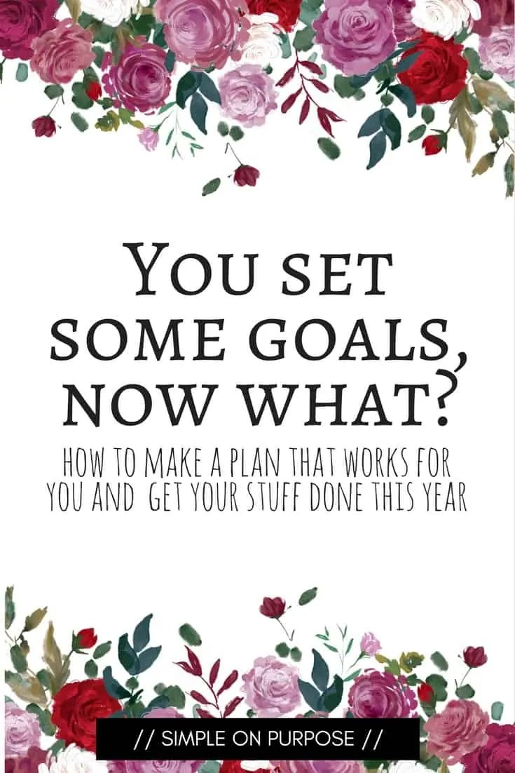You set some goals, now what?  Making a plan to put your goals into action.