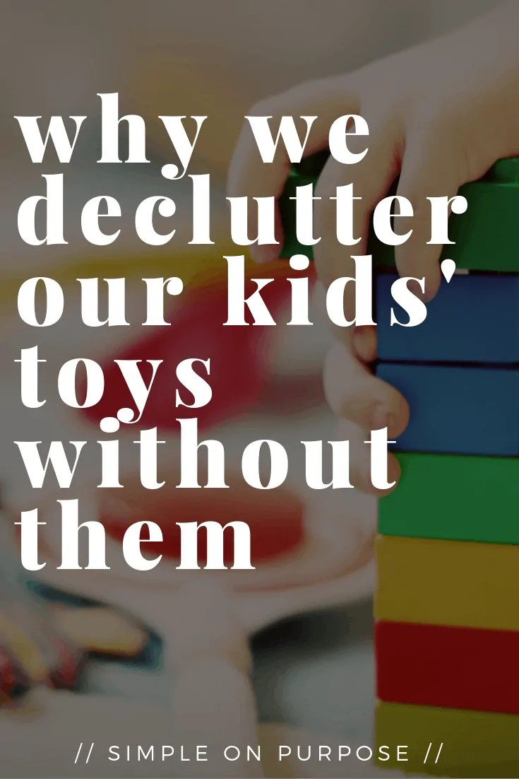 declutter toys without kids