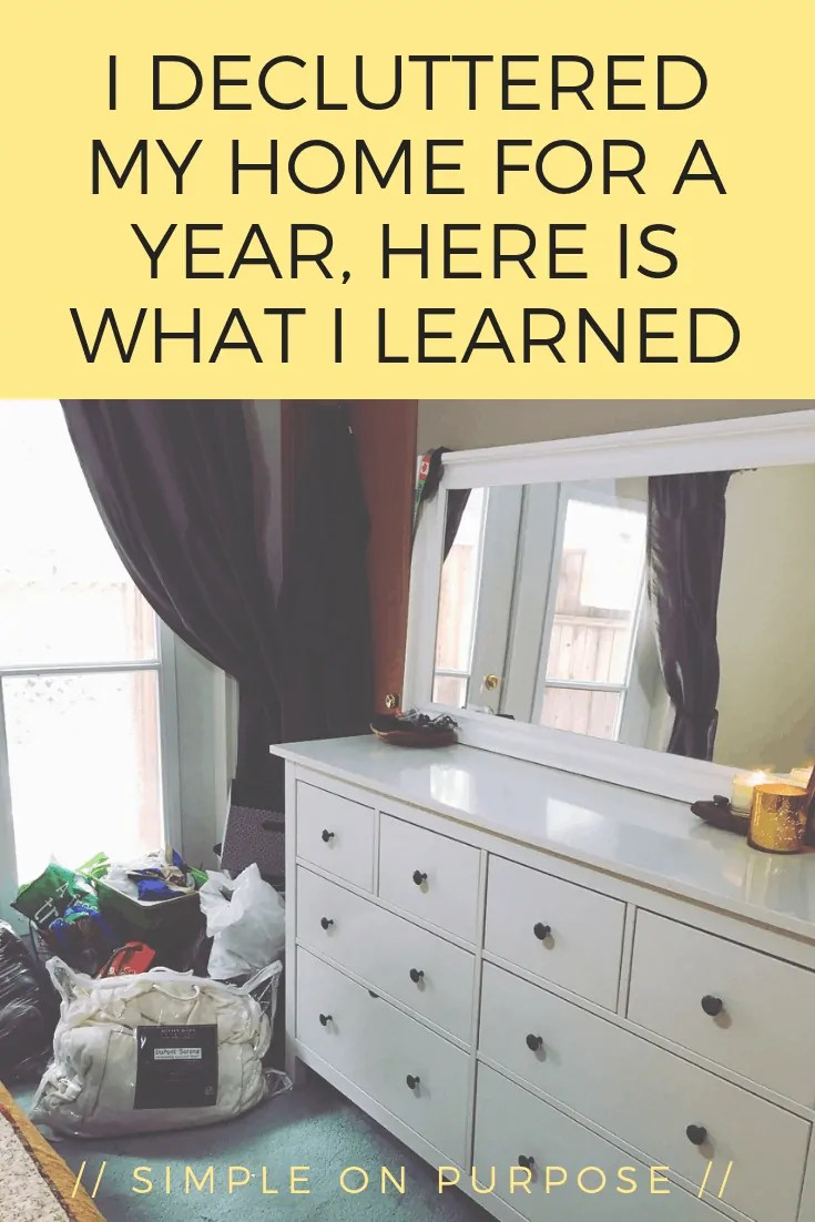 declutter home for a year update