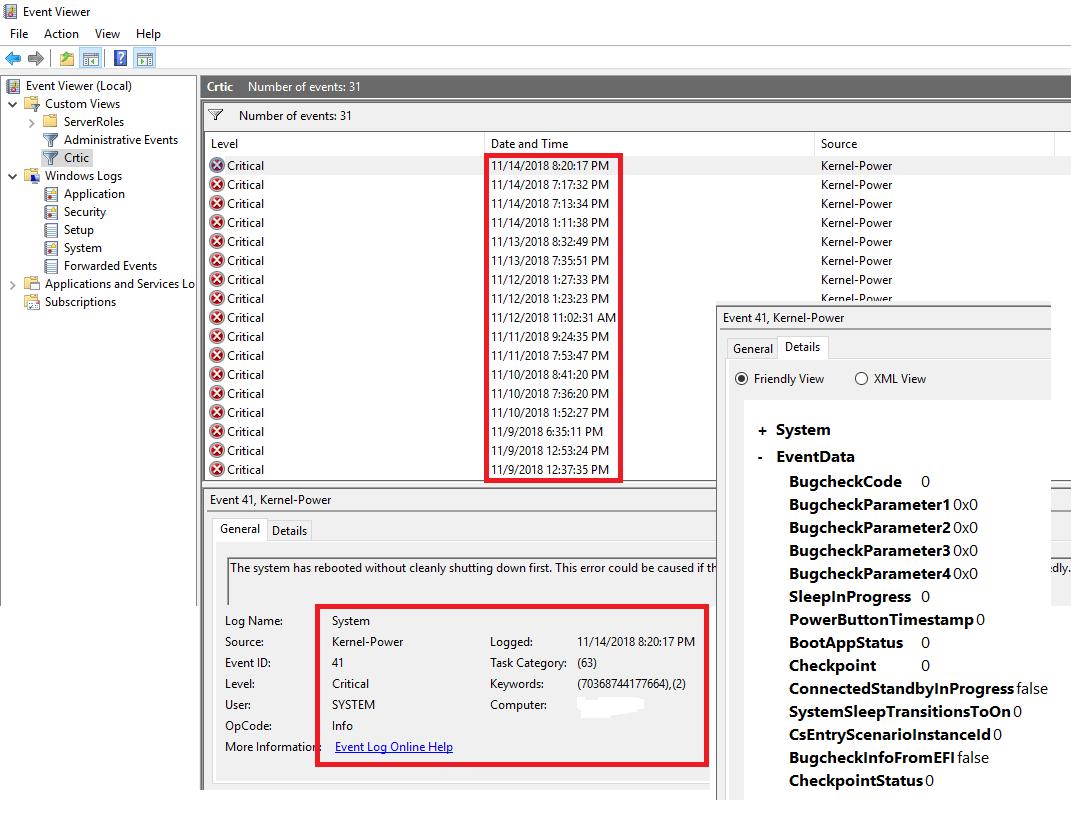 kernel-power|Event id 41 | Windows 10 – Duh! Microsoft did it again