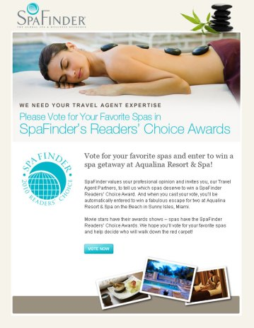 Readers' Choice Awards Email Design