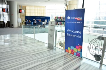 Welcome Sign and Registration Booth