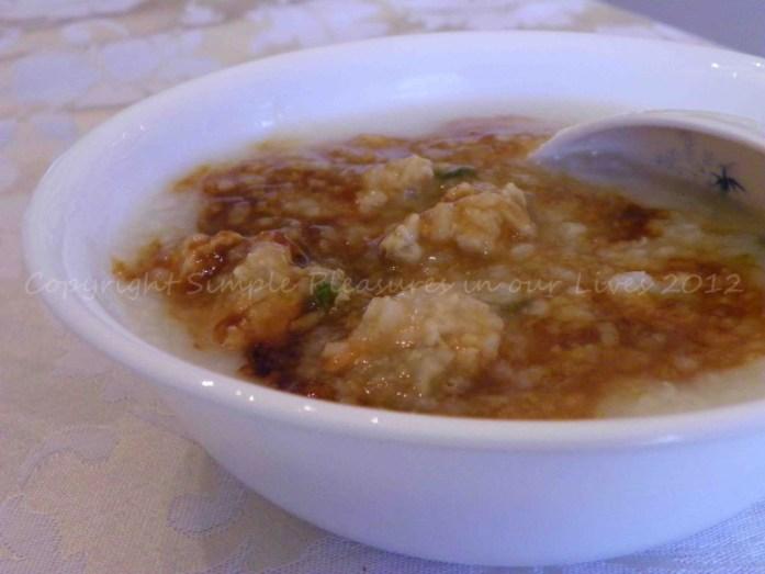 I like to eat my porridge with mushroom soy sauce