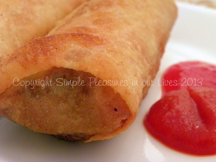 Crispy spring rolls - serve as is or with your favorite chili sauce